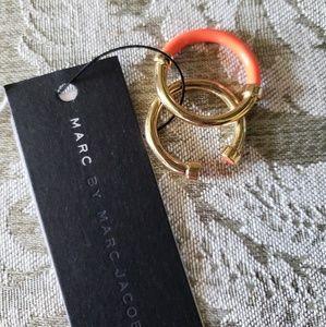 Trendy orange & gold Marc Jacob Stacking rings